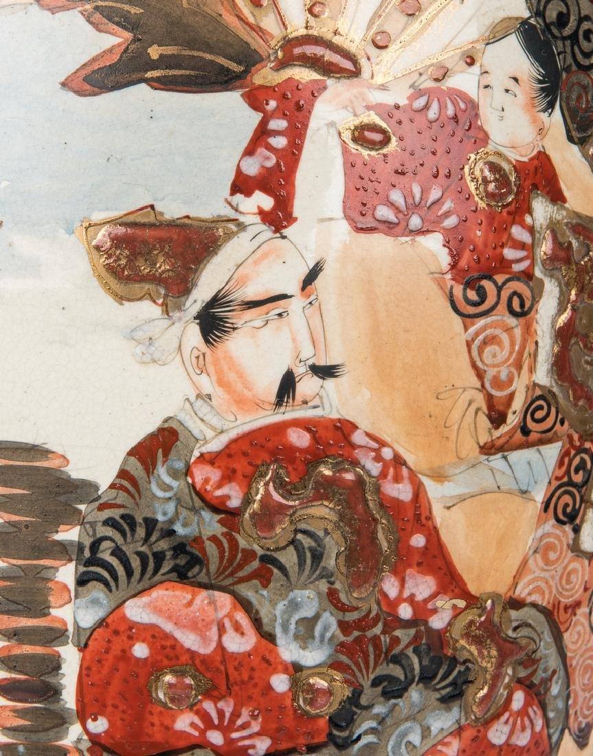 2 Japanese Satsuma Pottery Vases - 7