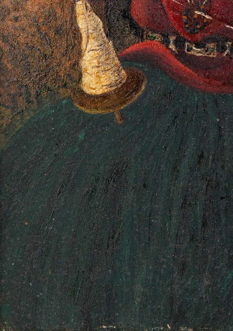 Native American Oil on Board Portrait - 9