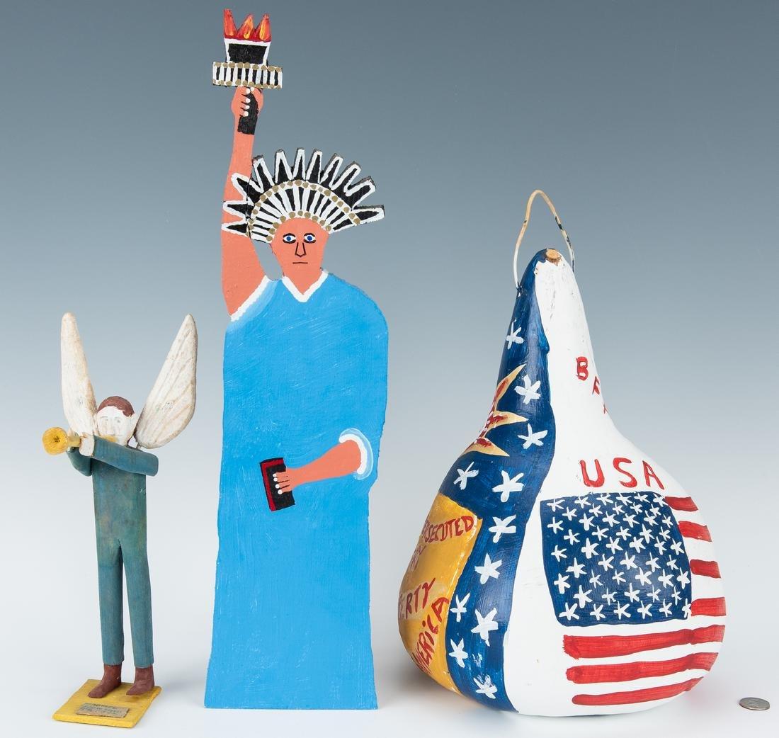 3 Folk Art items, Perkins, Jennings & Webster