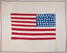 Patriotic 48 Star Flag Quilt