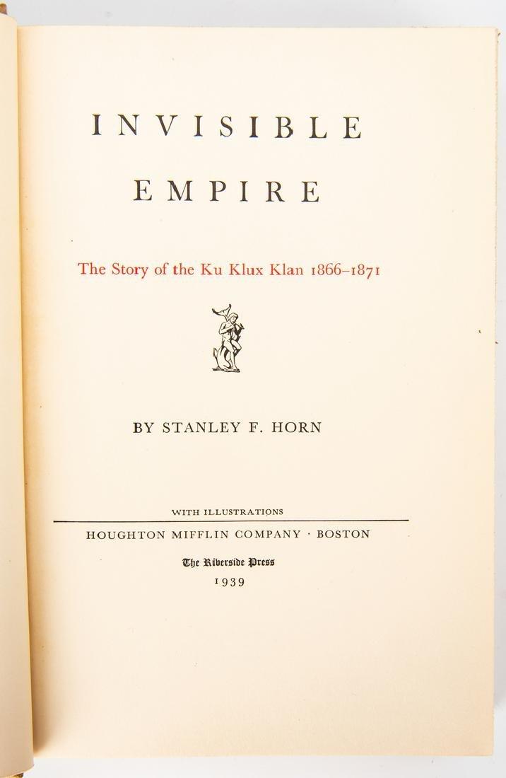 2 Ku Klux Klan Related Books, inc. S.L. Davis Signed - 10