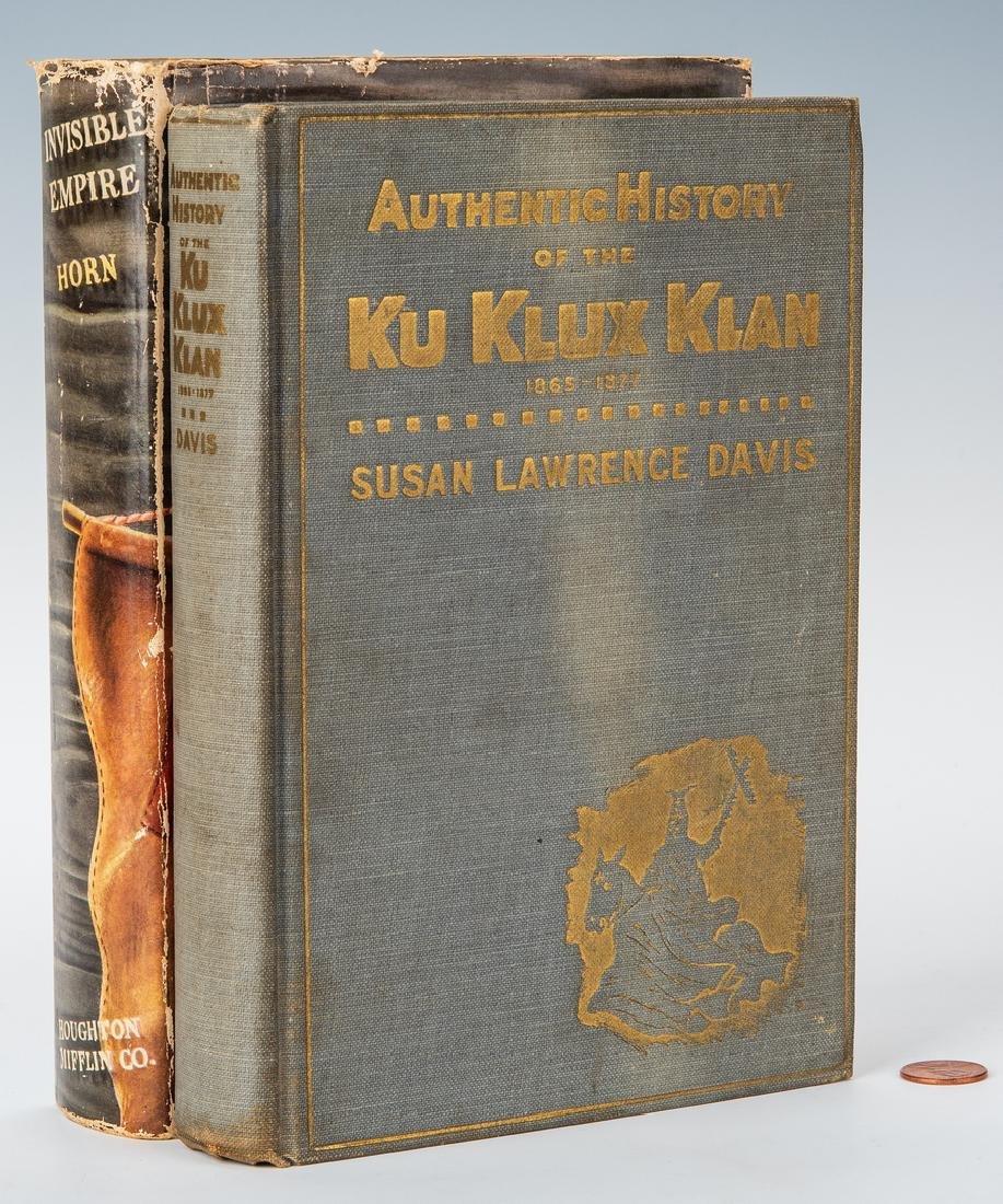 2 Ku Klux Klan Related Books, inc. S.L. Davis Signed