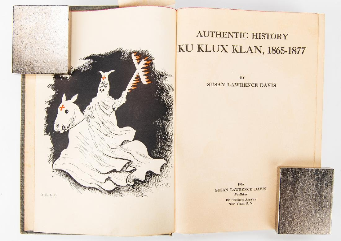 2 Ku Klux Klan Related Books, inc. S.L. Davis Signed - 6