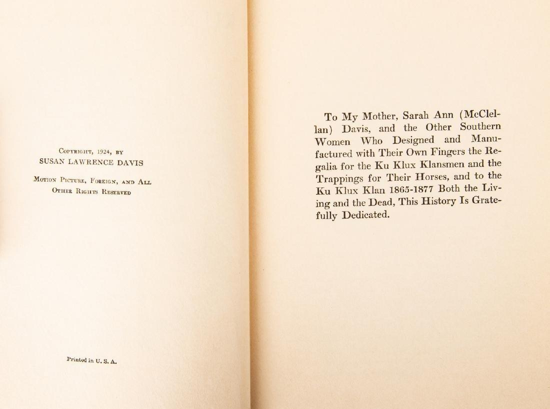 2 Ku Klux Klan Related Books, inc. S.L. Davis Signed - 7