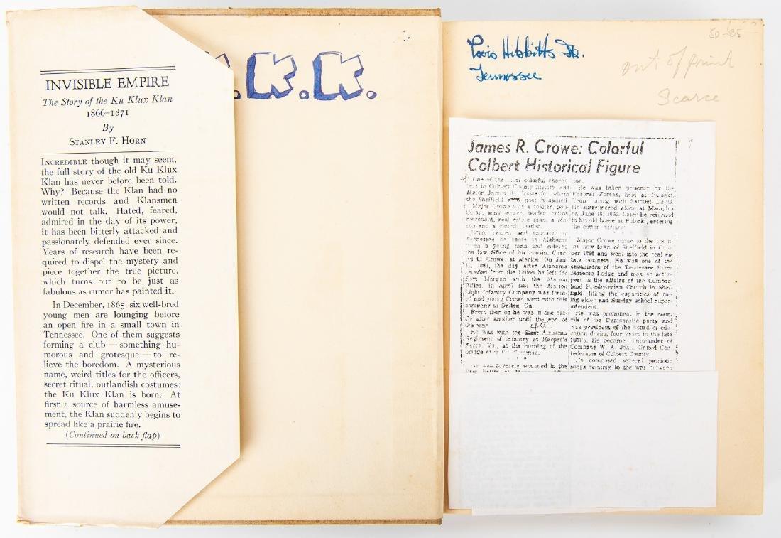 2 Ku Klux Klan Related Books, inc. S.L. Davis Signed - 9