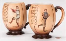 2 Harvard Sport Team Mugs by F. Earl Christy