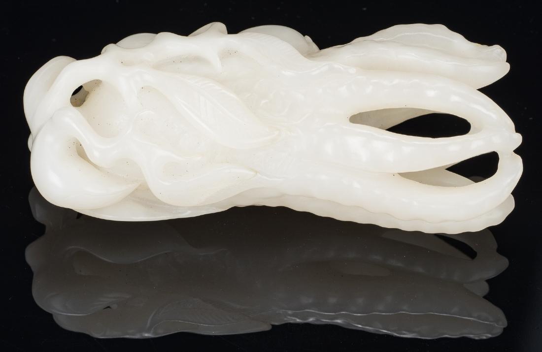 Chinese White Jade Carved Buddha Hand Citron