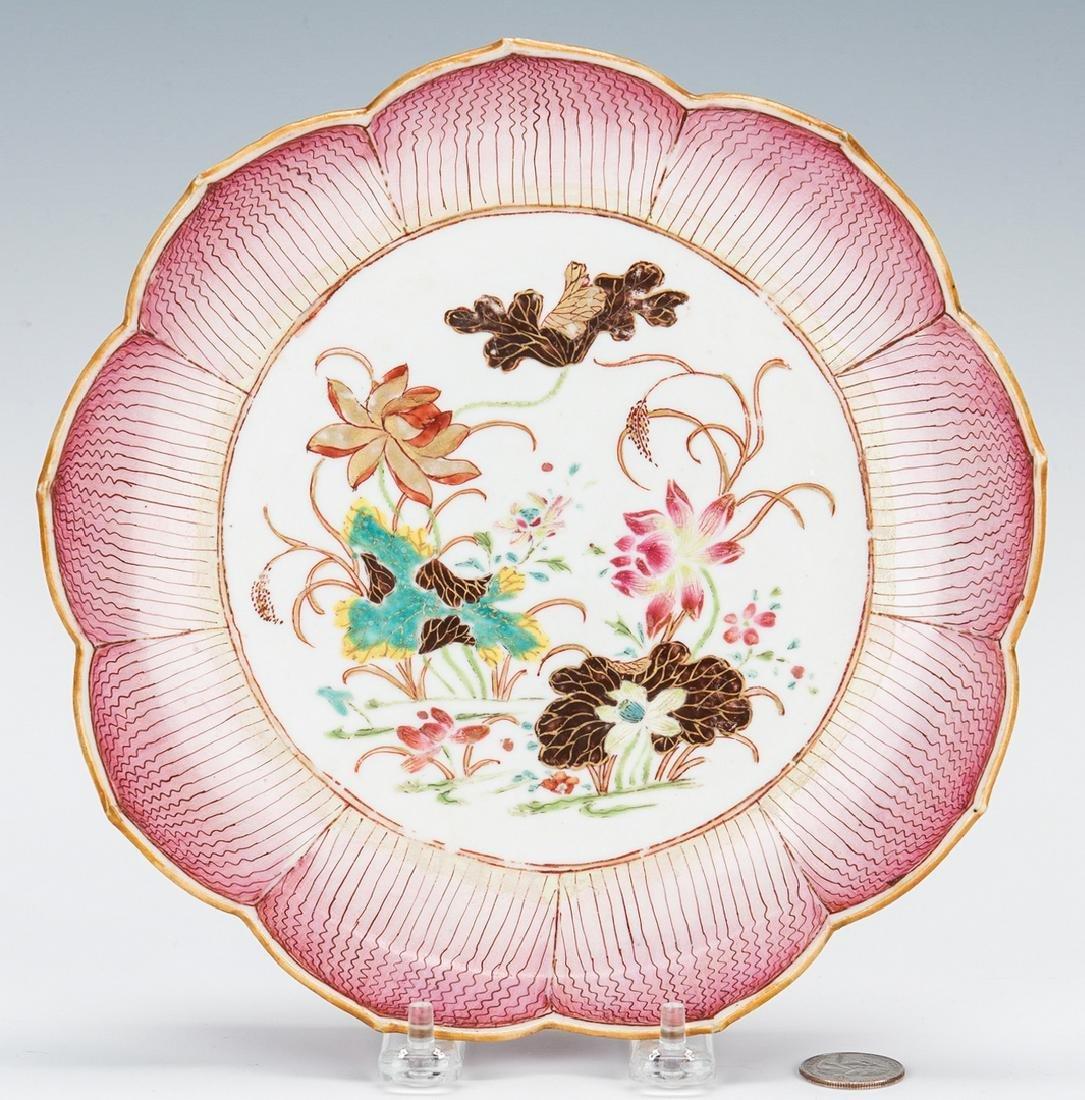 Chinese Export Porcelain Lotus Dish