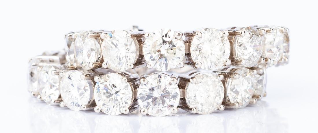 27 Carat Diamond Line Bracelet - 10