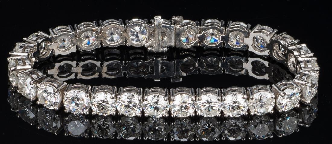 27 Carat Diamond Line Bracelet