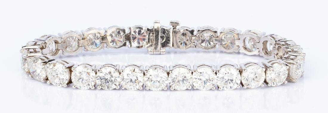 27 Carat Diamond Line Bracelet - 3