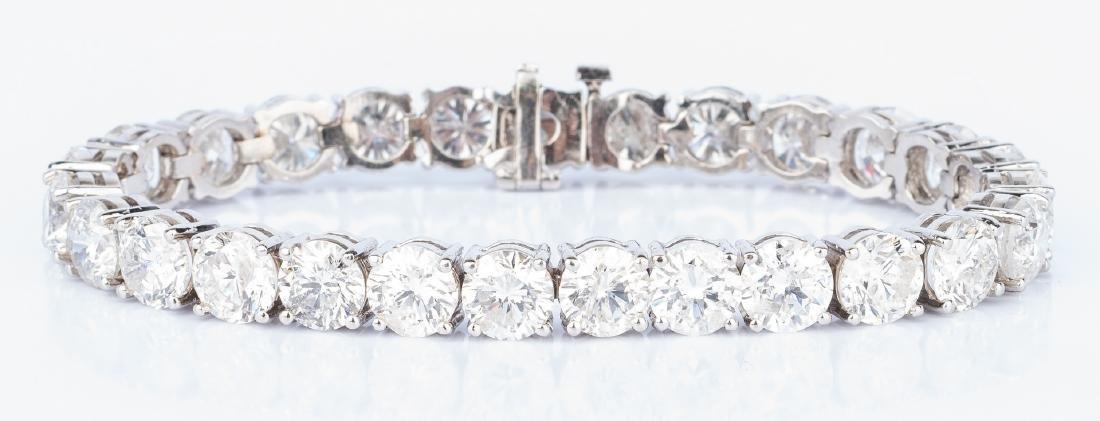 27 Carat Diamond Line Bracelet - 6