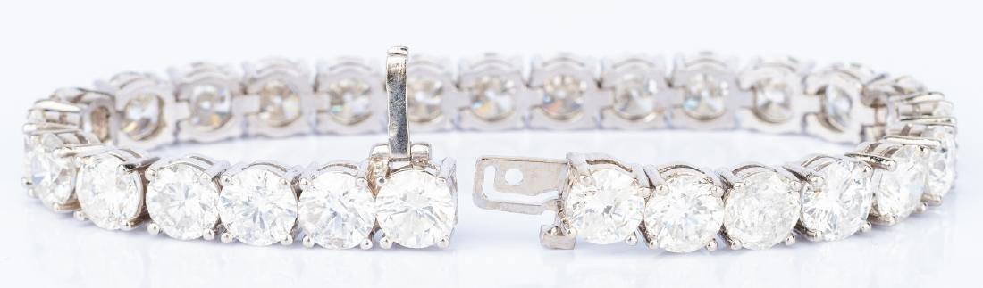 27 Carat Diamond Line Bracelet - 8