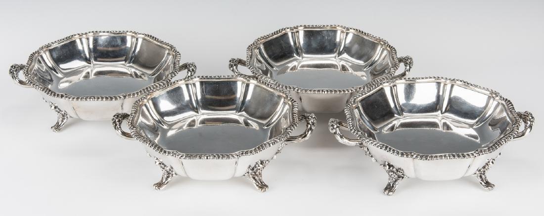 4 Matthew Boulton Armorial Entree Dishes - 8
