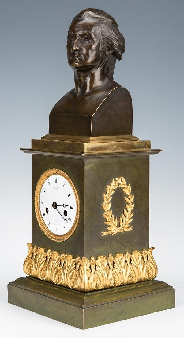 George Washington Clock by Mallet, c. 1820
