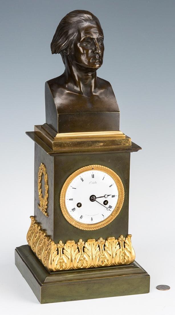George Washington Clock by Mallet, c. 1820 - 4