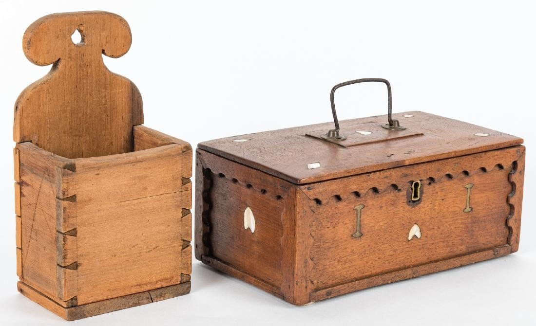 Collection of 12 Wood Boxes, incl. Shaker - 3