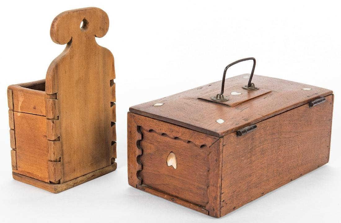 Collection of 12 Wood Boxes, incl. Shaker - 4