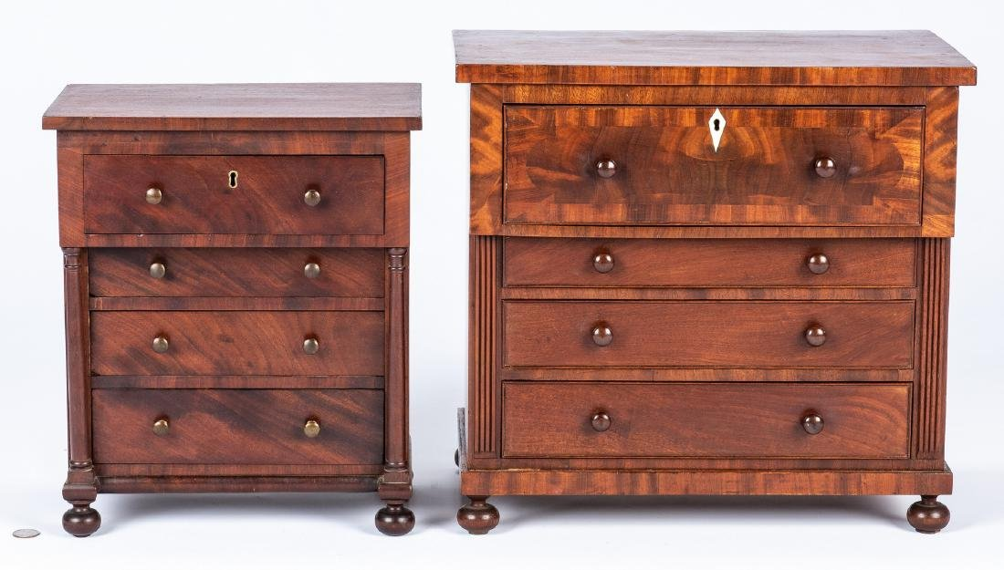 2 Mid Atlantic Miniature Classical Chests of Drawers - 2