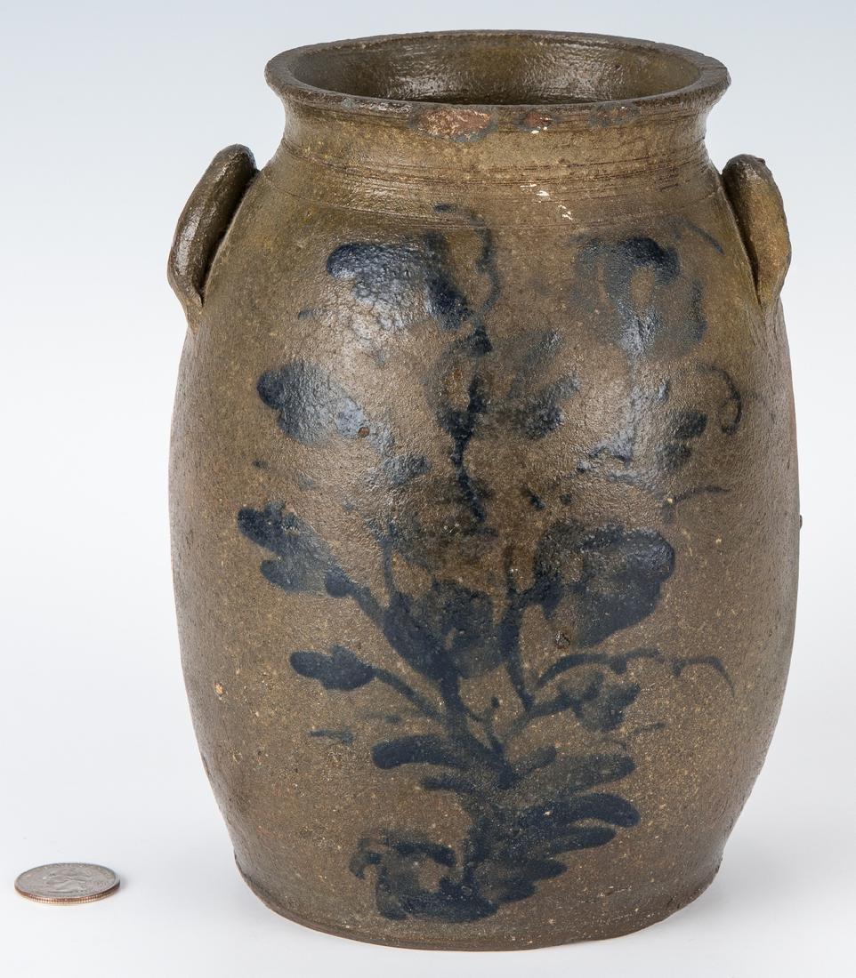 Small Southwest VA Stoneware Jar, Cobalt Decorated, - 10