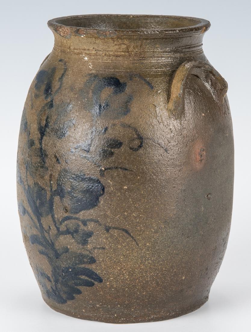 Small Southwest VA Stoneware Jar, Cobalt Decorated, - 2
