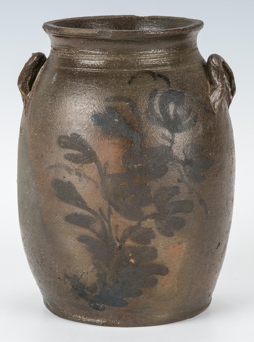 Small Southwest VA Stoneware Jar, Cobalt Decorated, - 3
