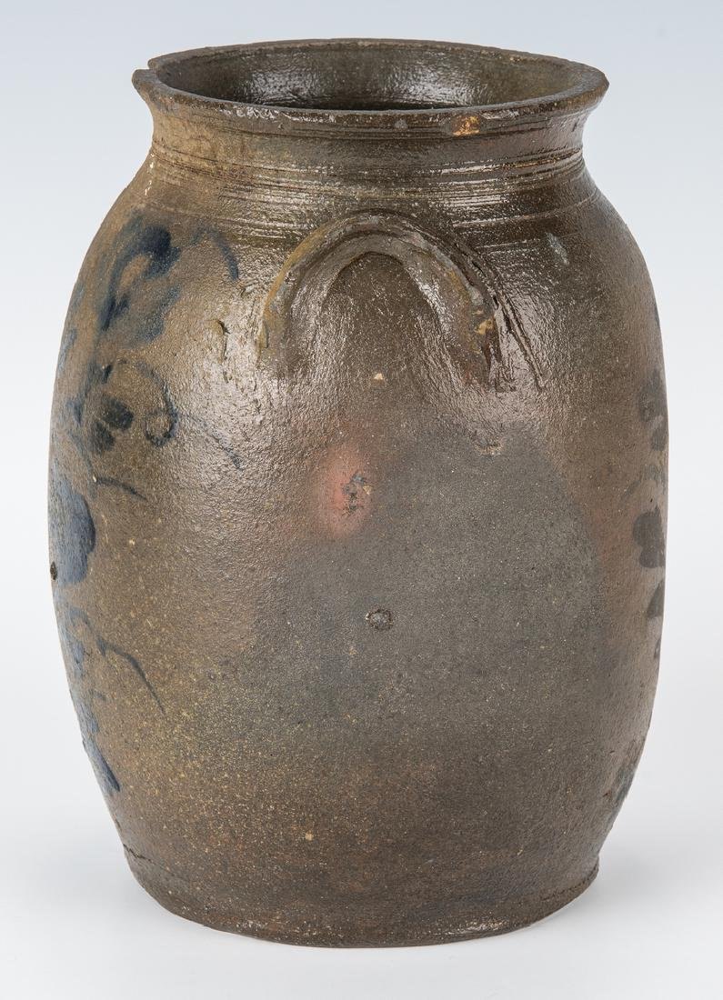 Small Southwest VA Stoneware Jar, Cobalt Decorated, - 4