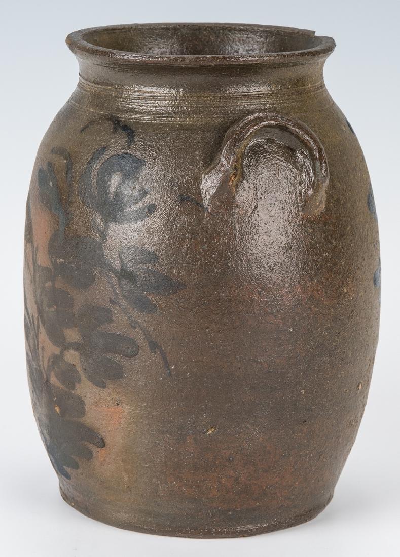 Small Southwest VA Stoneware Jar, Cobalt Decorated, - 5