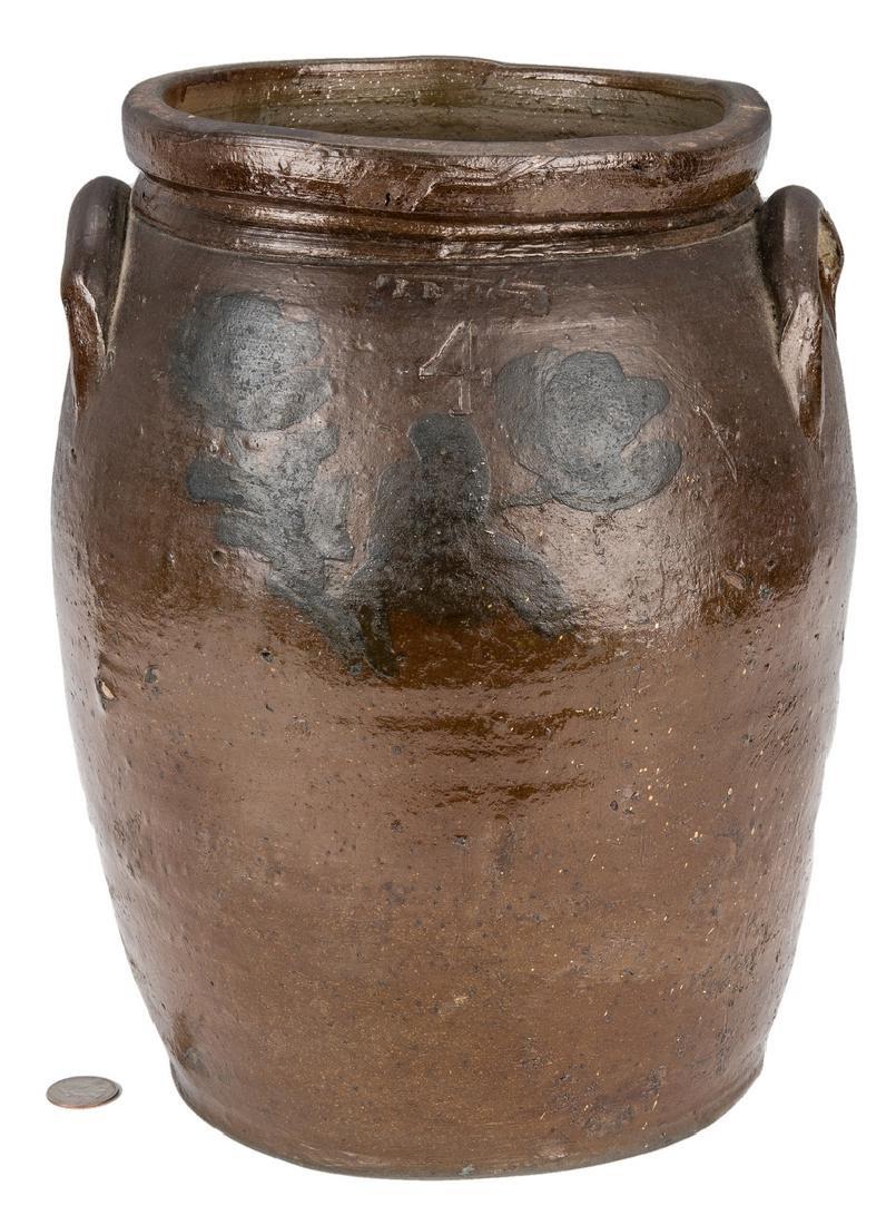 Southwest VA J. B. Magee Stoneware Jar w/ Cobalt,