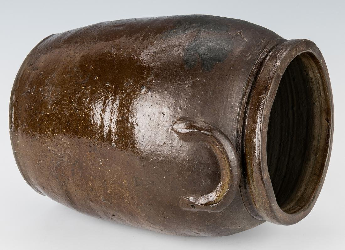 Southwest VA J. B. Magee Stoneware Jar w/ Cobalt, - 6