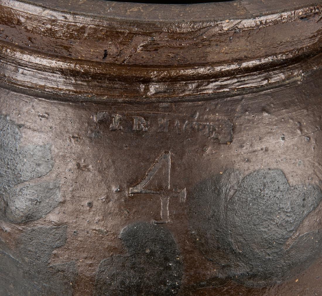 Southwest VA J. B. Magee Stoneware Jar w/ Cobalt, - 9
