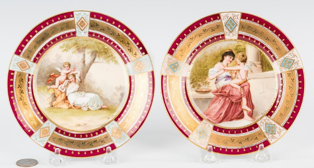 Pr. Royal Vienna Cabinet Plates, Berg and Bauer