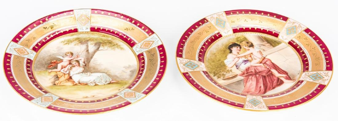 Pr. Royal Vienna Cabinet Plates, Berg and Bauer - 8