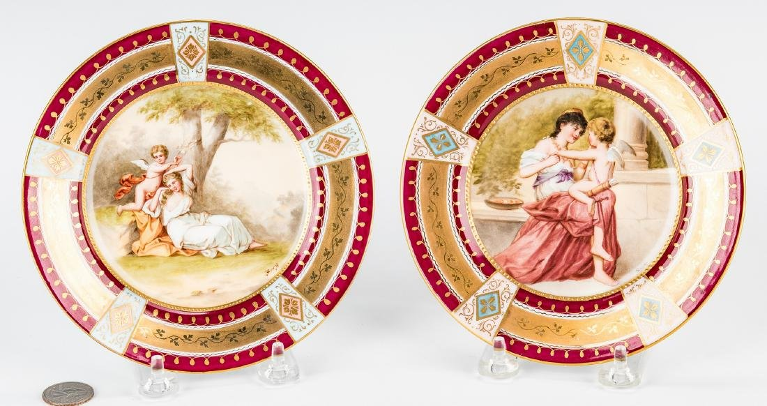 Pr. Royal Vienna Cabinet Plates, Berg and Bauer - 9