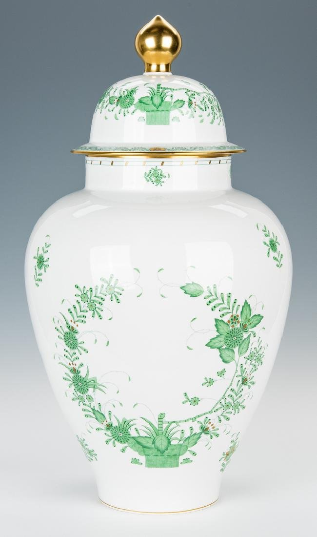 Large Herend Porcelain Lidded Urn, Chinese Bouquet