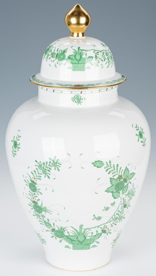Large Herend Porcelain Lidded Urn, Chinese Bouquet - 2