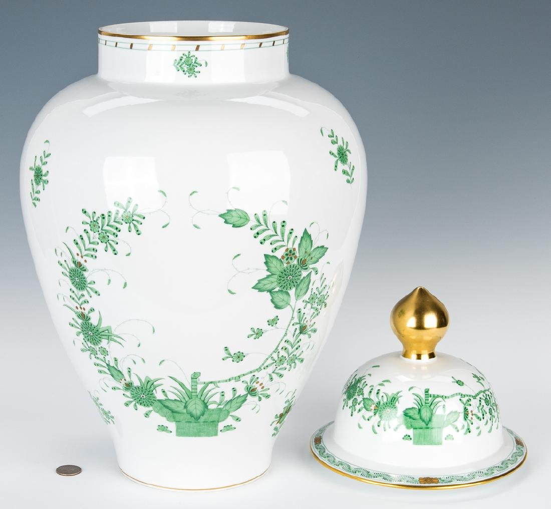 Large Herend Porcelain Lidded Urn, Chinese Bouquet - 3