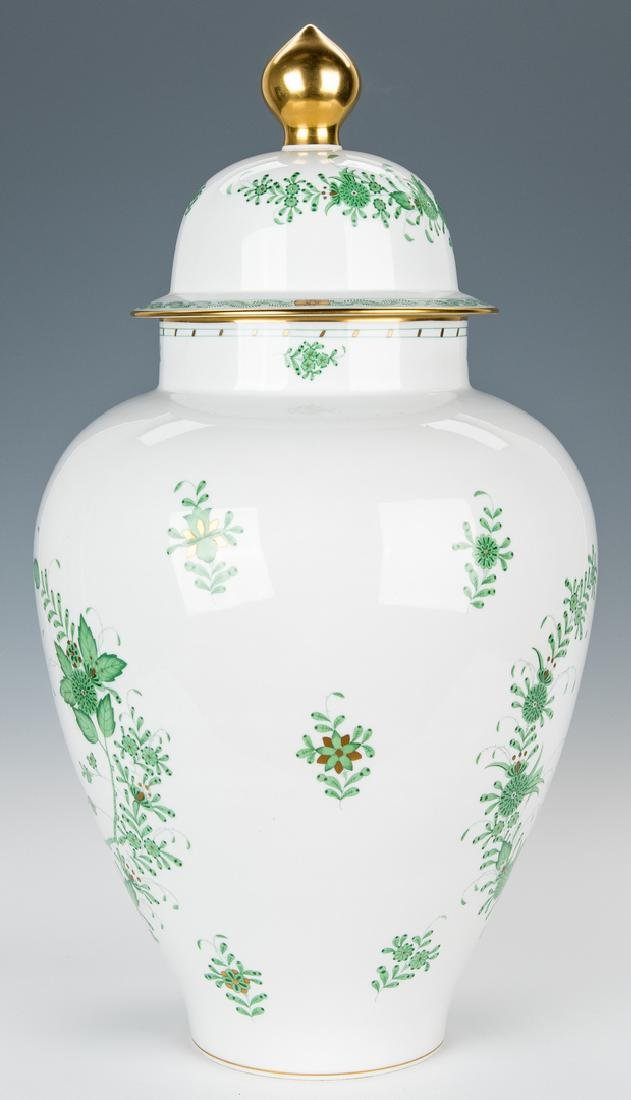 Large Herend Porcelain Lidded Urn, Chinese Bouquet - 4