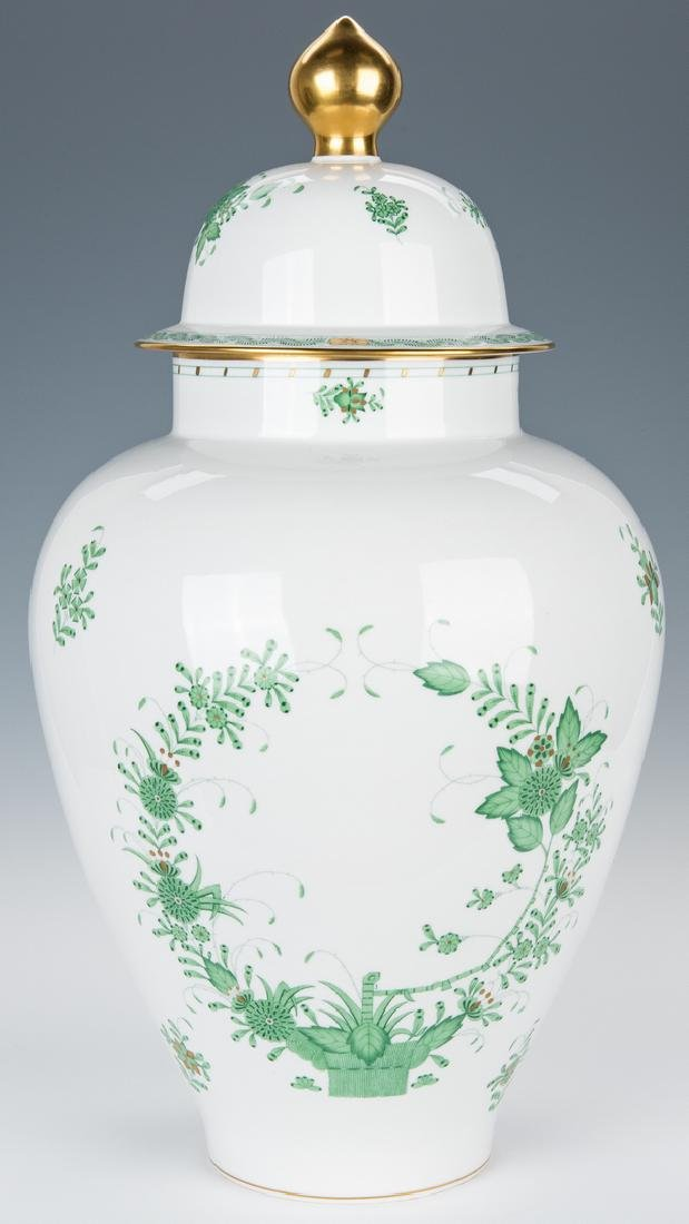 Large Herend Porcelain Lidded Urn, Chinese Bouquet - 5