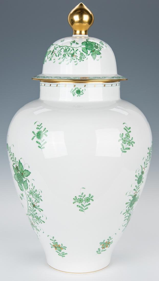 Large Herend Porcelain Lidded Urn, Chinese Bouquet - 6