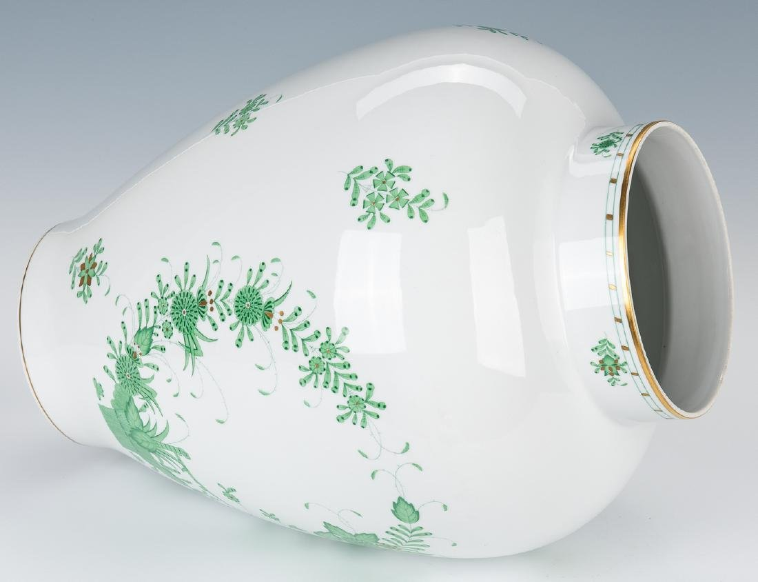 Large Herend Porcelain Lidded Urn, Chinese Bouquet - 7