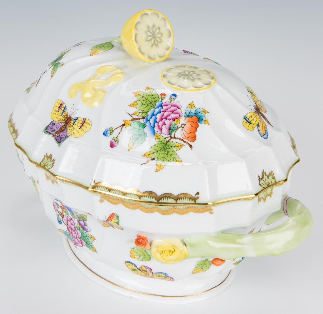 Herend Queen Victoria Soup Tureen and Underplate - 4