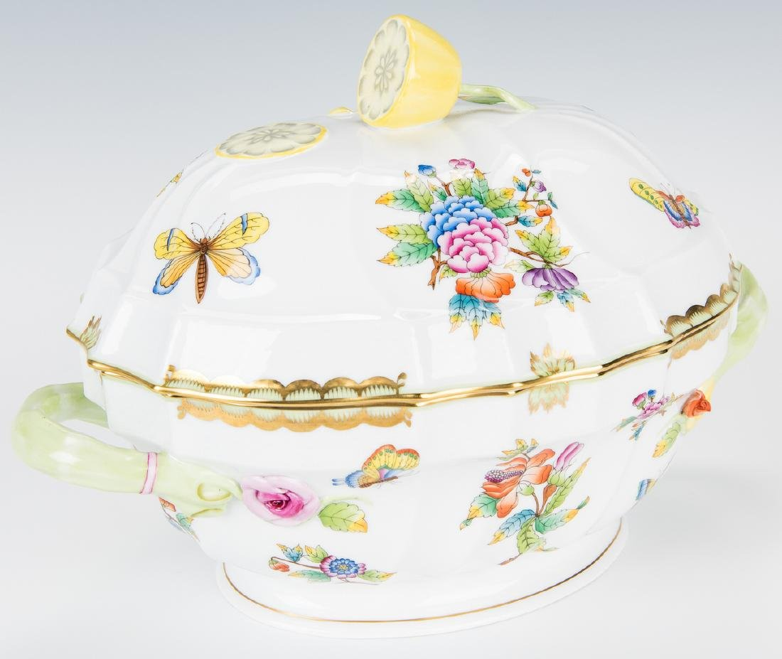 Herend Queen Victoria Soup Tureen and Underplate - 5