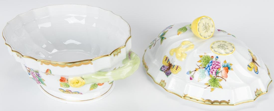 Herend Queen Victoria Soup Tureen and Underplate - 9