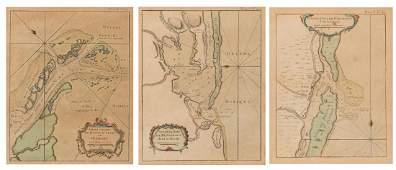 3 Bellin Maps, incl. Louisiana, Florida, 1760s