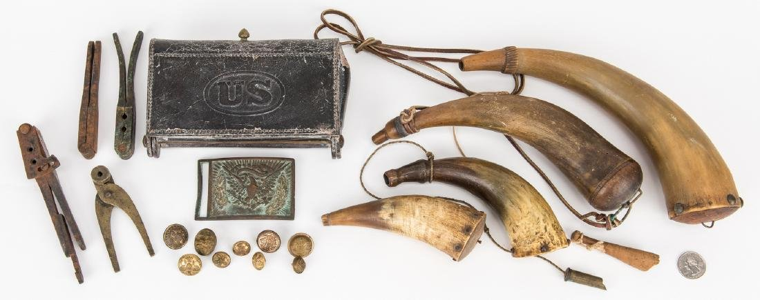 19 Civil War and Later Items, incl. Belt Plate, Buttons