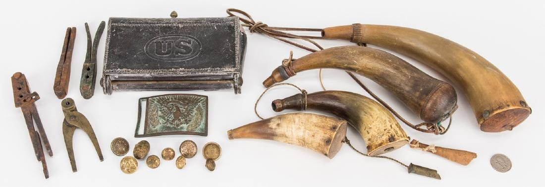 19 Civil War and Later Items, incl. Belt Plate, Buttons - 2