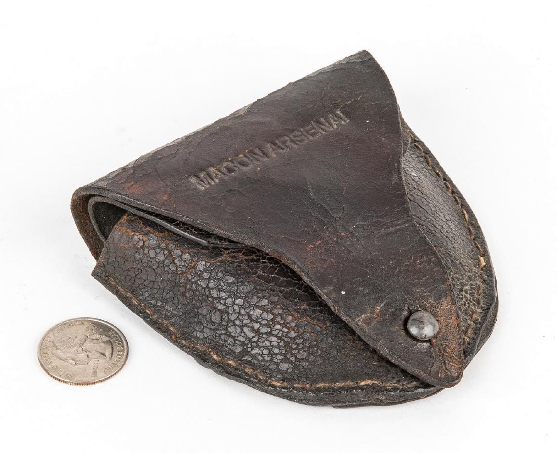 "Confederate Macon, GA Arsenal ""Mule Foot"" Leather Cap"