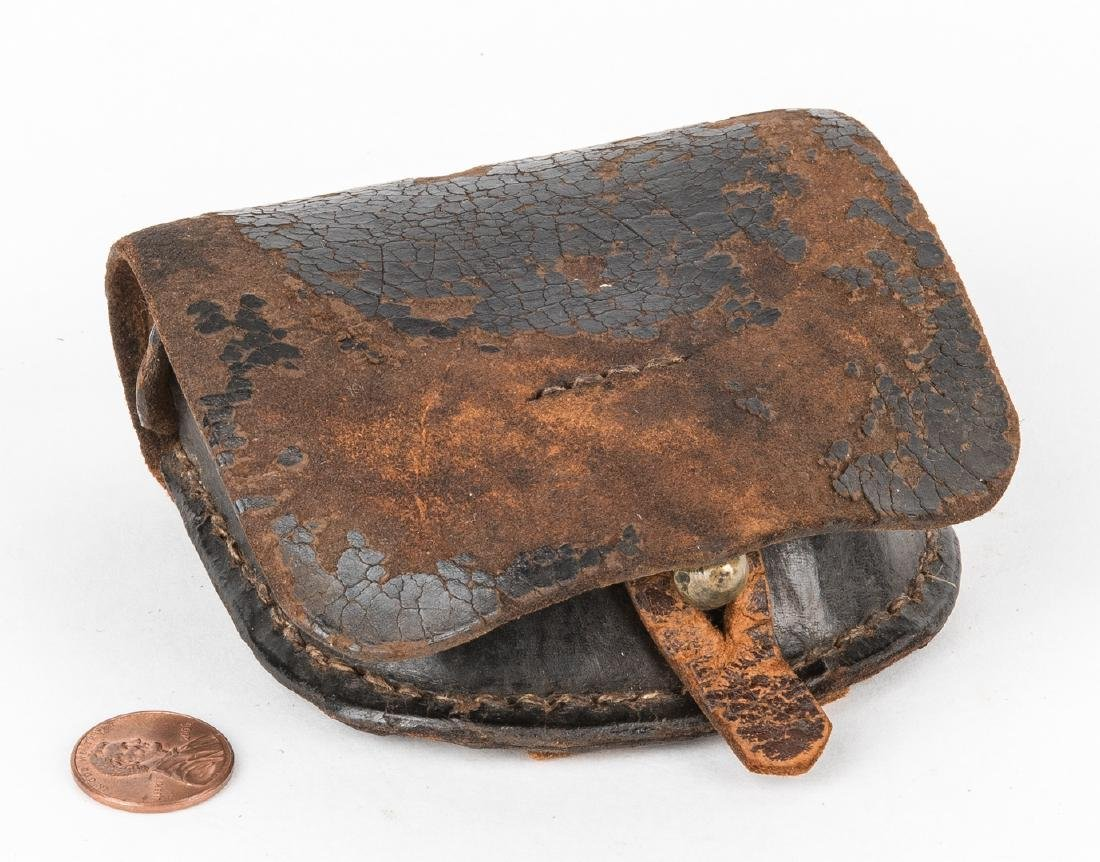 Confederate Arsenal Made Leather Cap Box, Battle of