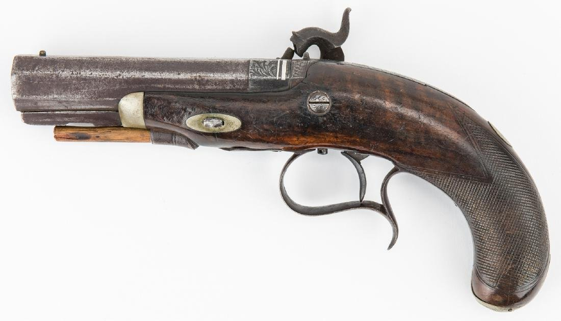 V. Libeau New Orleans Dealer Percussion Pocket Pistol, - 2